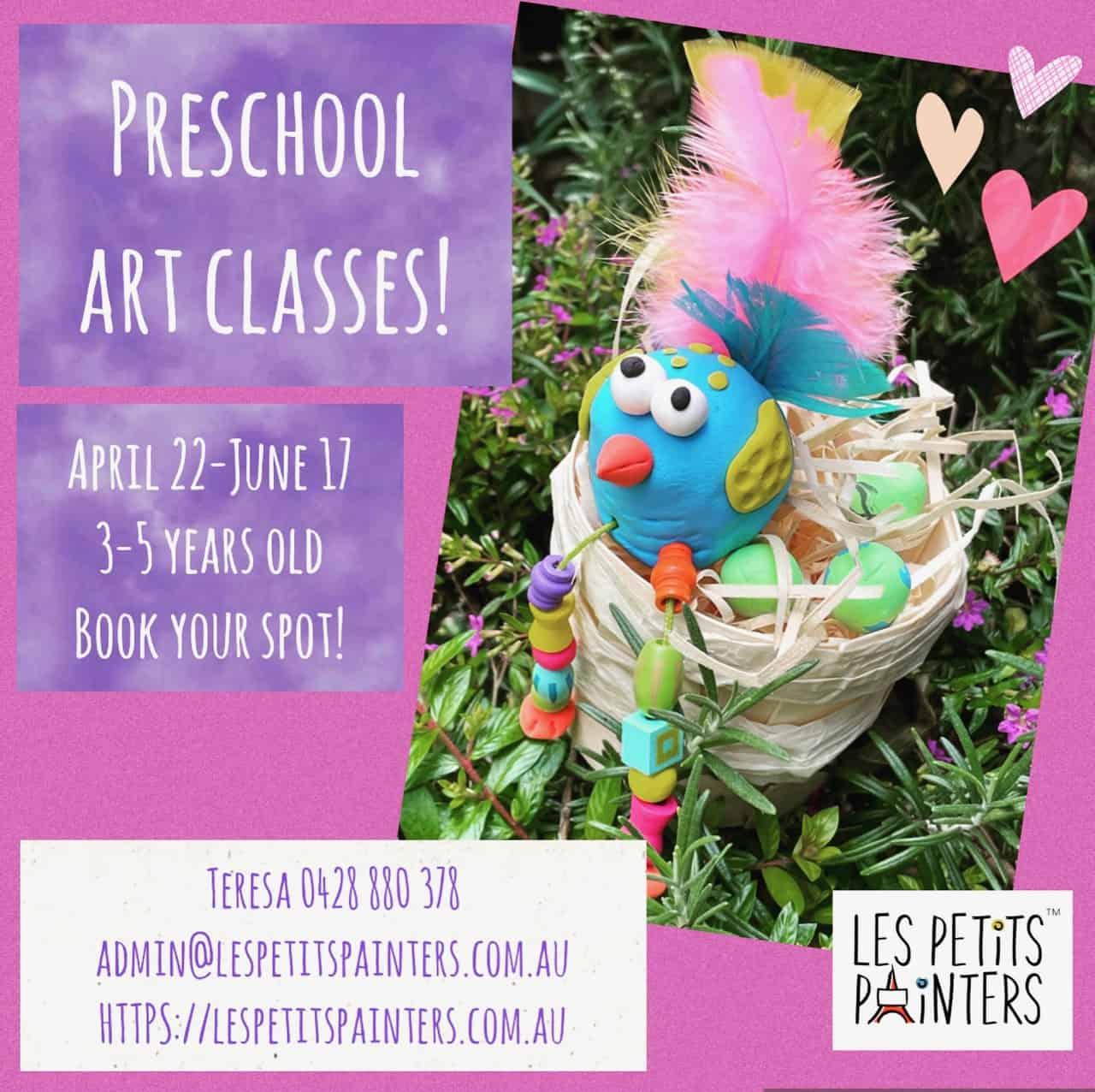 Art classes for children, Arts and crafts classes for preschool kids, Les Petits Painters fun art classes for kids