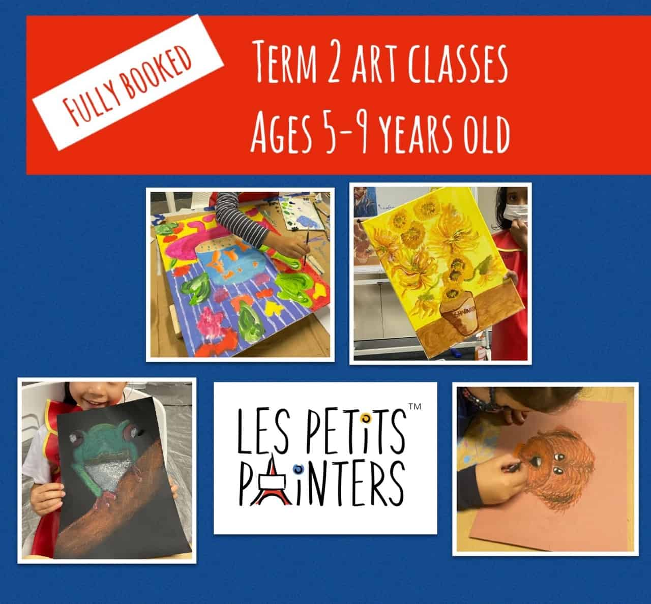 Art classes for children in Sydney, Les Petits Painters arts & crafts lessons for kids 5-9 years old