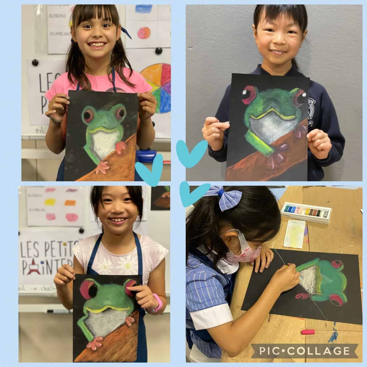 Art classes for kids, Les Petits Painters arts and crafts classes for children in Sydney, drawing lessons